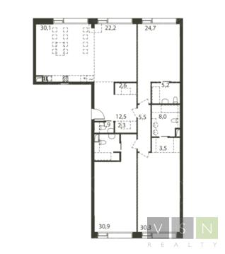 """4-комнатная квартира, 185 кв.м., в ЖК """"Садовые кварталы"""""""
