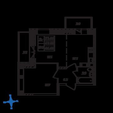 Люберцы, 2-х комнатная квартира, ул. Барыкина д., 4140876 руб.