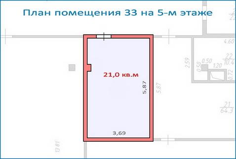 Помещение свободного назначения 21,5 кв.м в новом ТЦ, 6 км от МКАД