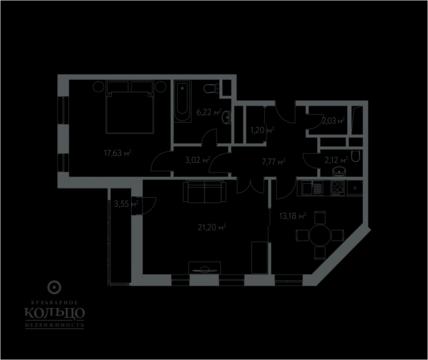 """2-комнатная квартира, 76 кв.м., в ЖК """"Дом в Олимпийской Деревне"""""""