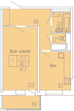 1-комнатная квартира 2-я Институтская корпус 31