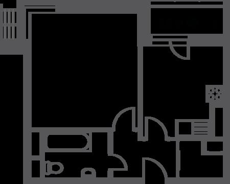 """1-комнатная квартира, 38 кв.м., в ЖК """"Софьин-дом. Лидер на Дмитровском"""""""