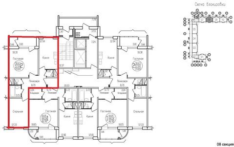 2-комнатная квартира, 60 кв.м., в ЖК на улице Жуковского