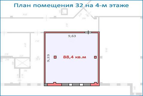 Помещение свободного назначения 88,4 кв.м в новом ТЦ, 6 км от МКАД