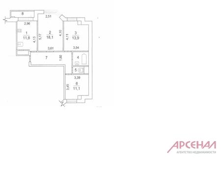 3-комнатная квартира. Адрес: М.О. г. Электросталь, ул. Ялагина д.5