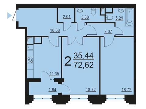 Москва, 2-х комнатная квартира, ул. Берзарина д.28, 13839266 руб.