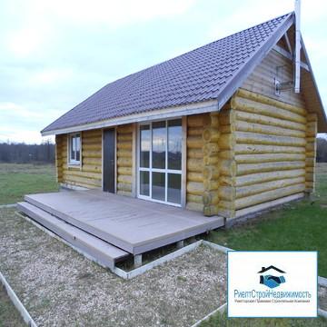 Новый бревенчатый дом под ключ, камин, душ, туалет