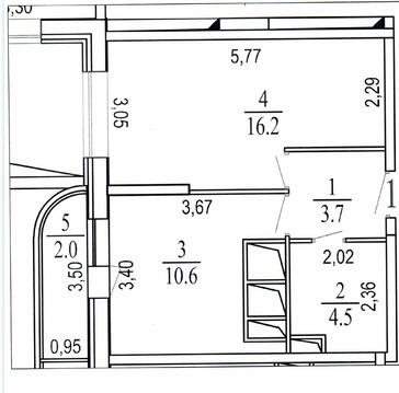 1-комнатная квартира, 39 кв.м., в ЖК «Новое Измайлово»