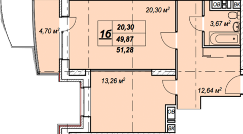 Солнечногорск, 1-но комнатная квартира, ул. Обуховская д.50, 2820400 руб.