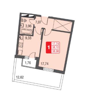 Москва, 1-но комнатная квартира, ул. Живописная д.12, 2570501 руб.