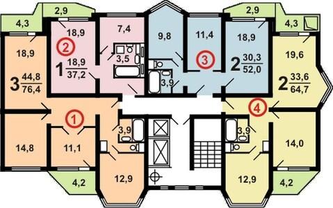 Брехово, 2-х комнатная квартира,  д.10, 3850000 руб.