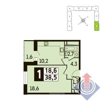 1-комнатная квартира, 39 кв.м., в ЖК Up! Квартал Новое Тушино