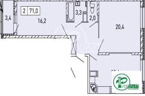 """2-комнатная квартира, 71 кв.м., в ЖК """"Изумрудные Холмы"""""""