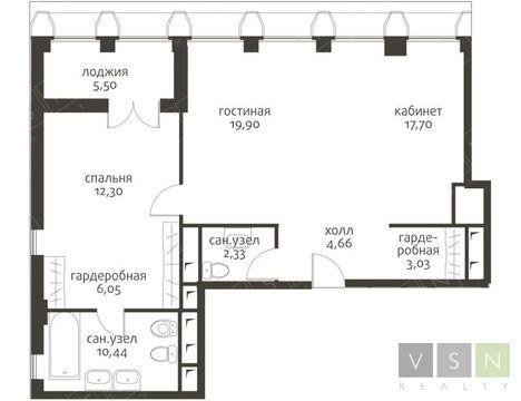 """2-комнатная квартира, 78 кв.м., в ЖК """"Садовые кварталы"""""""