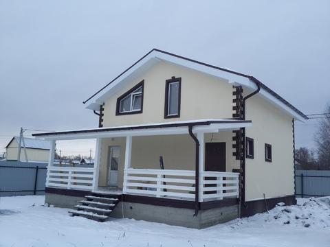 Продается новый блочный дом д. Цибино, ул. Весенняя, 50 км от МКАД