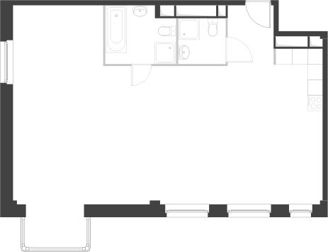 3-комнатная квартира, 89 кв.м., в Два дома 20&20