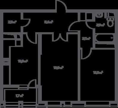 Москва, 2-х комнатная квартира, 1-й Нагатинский проезд д.14, 15318675 руб.