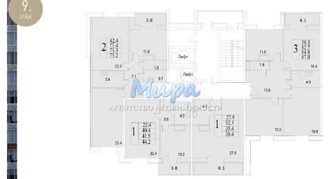 """3-комнатная квартира, 87 кв.м., в ЖК """"Академический"""" г. Люберцы"""
