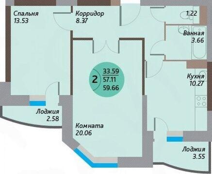 2-к квартира, Щёлково, Чкаловская улица, 3