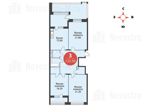 Павловская Слобода, 3-х комнатная квартира, ул. Красная д.д. 9, корп. 55, 11711000 руб.