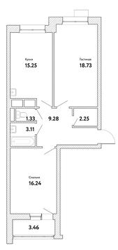 """2-комнатная квартира, 68 кв.м., в ЖК """"Пикассо"""""""