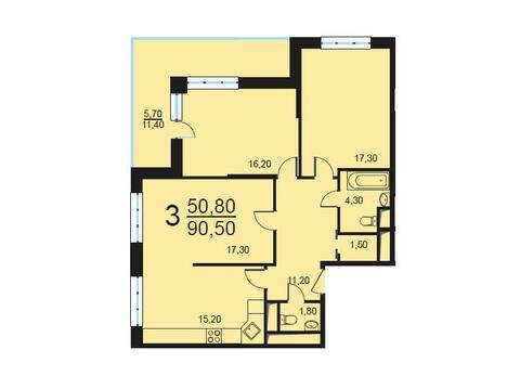 Москва, 3-х комнатная квартира, Внутренний проезд д.8с3, 17218880 руб.