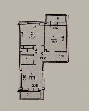 2-комнатная квартира, 59 кв.м., в ЖК «Лукино-Варино»