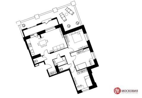 4 комн. квартира,77,6м2, с террасой 22,3м2, в 6км от МКАД, Варшавское ш.