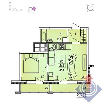 Мытищи, 1-но комнатная квартира,  д., 3629999 руб.