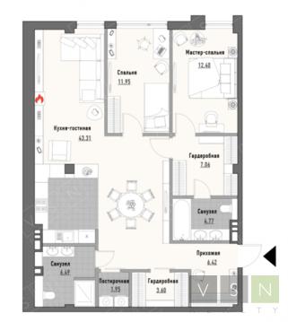 """3-комнатная квартира, 99 кв.м., в ЖК """"Парк Мира"""""""