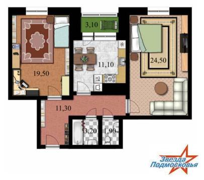 Продается 2 комнатная квартира в Дмитрове, улица Московская д.8.