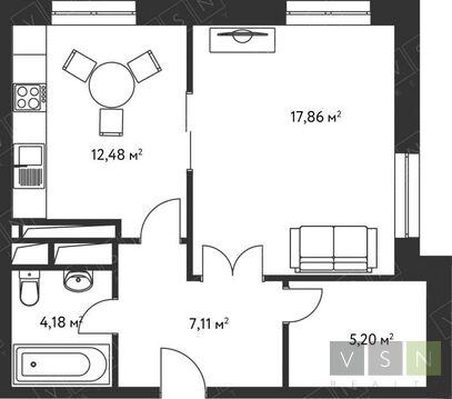 """1-комнатная квартира, 47 кв.м., в ЖК """"Дом в Олимпийской Деревне"""""""