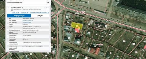 Участок ПМЖ в центре Серпухова