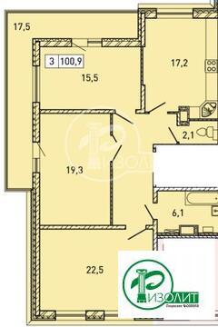 """3-комнатная квартира, 101 кв.м., в ЖК """"Изумрудные Холмы"""""""