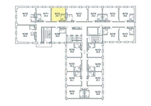 Москва, 1-но комнатная квартира, ул. Радиальная 6-я д.7, к 35, 2713690 руб.