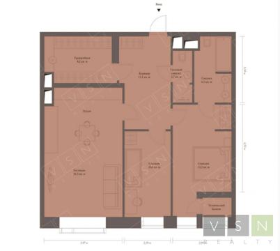 """3-комнатная квартира, 88 кв.м., в ЖК """"Резиденция МОНЭ"""""""