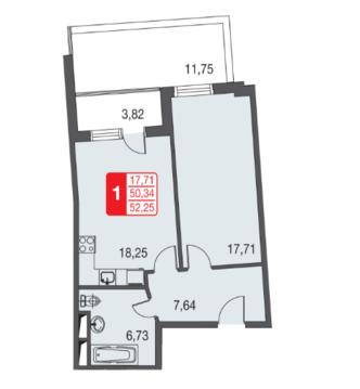 Москва, 1-но комнатная квартира, ул. Живописная д.12, 3303101 руб.