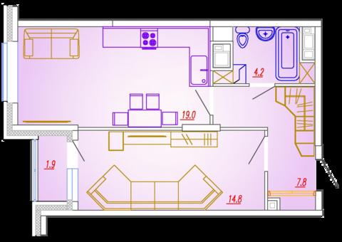 Мытищи, 1-но комнатная квартира, Ярославское ш. д.73, 3944000 руб.