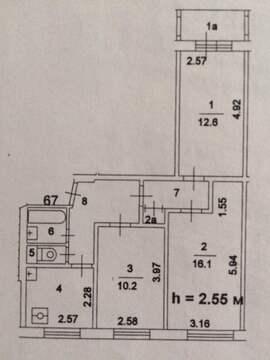 Продается комната 16 кв.м в 3-ой квартире по ул. Бирюлевская 11к1