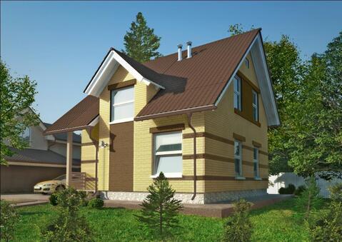 Двухэтажный коттедж проект Илек