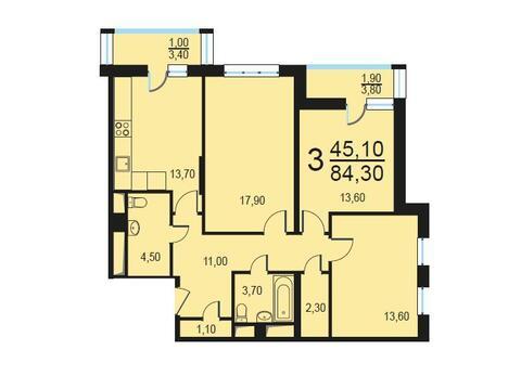 Москва, 2-х комнатная квартира, Внутренний проезд д.8с1, 16944300 руб.