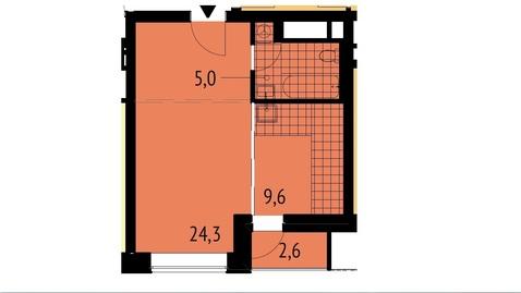 1-комн. квартира, 40.2 м2 в ЦАО. скоро ключи!