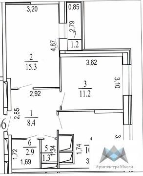 2-комнатная квартира, 53 кв.м., в ЖК «Новое Измайлово»