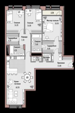 """3-комнатная квартира, в Элитный дом """"РЕНОМЭ"""""""