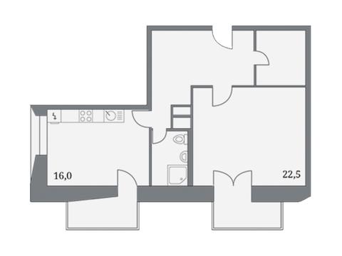 """Продается 1-к. квартира, 70,3 кв.м. в ЖК """"Клубный дом на Серпуховском ."""