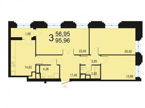 Москва, 3-х комнатная квартира, ул. Берзарина д.28, 18520664 руб.