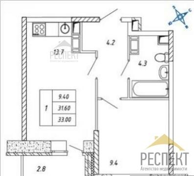 Продаётся 1-комнатная квартира по адресу Дружбы корп.24
