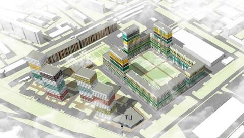 Строящееся ТЦ площадью 4144 кв.м.