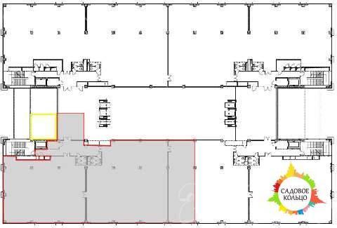 Предлагается к аренде офисное помещение 890 кв.м. - 6-й этаж Бизнес Це