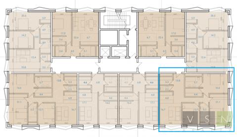 3-комнатная квартира, 107 кв.м.